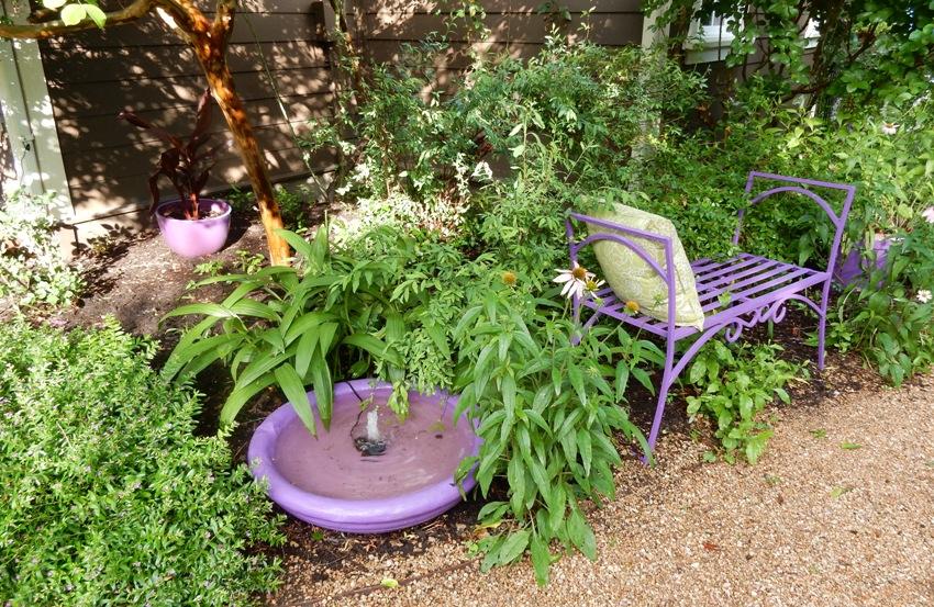 Purple in the garden
