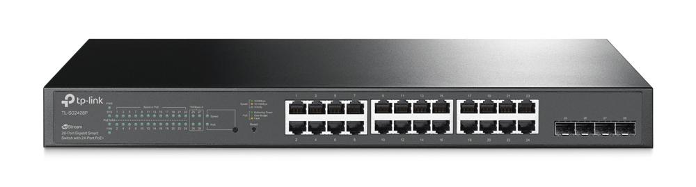 TP-Link TL-SG2428P JetStream 28-Port Gigabit Smart Switch   Comms Express