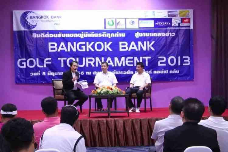 Press Release Bangkok Bank Golf Tournament 2013