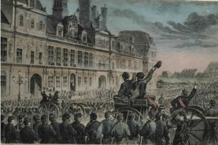 Proclamation de la Commune à l'Hôtel de Ville de Paris 28 mars 1871