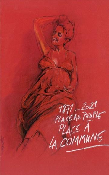 Affiche d'Ernest Pignon-Ernest pour le 150ème anniversaire de la Commune de Paris 1871