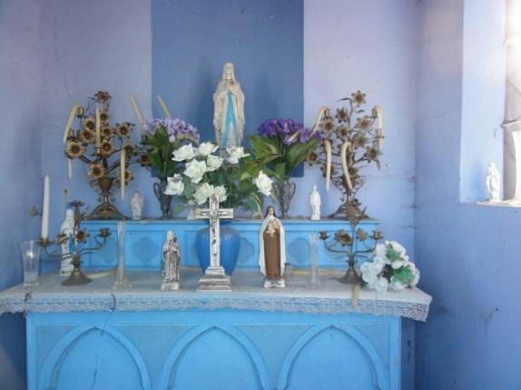 Neuf-Mesnil (59330) chapelle Marie, intérieur