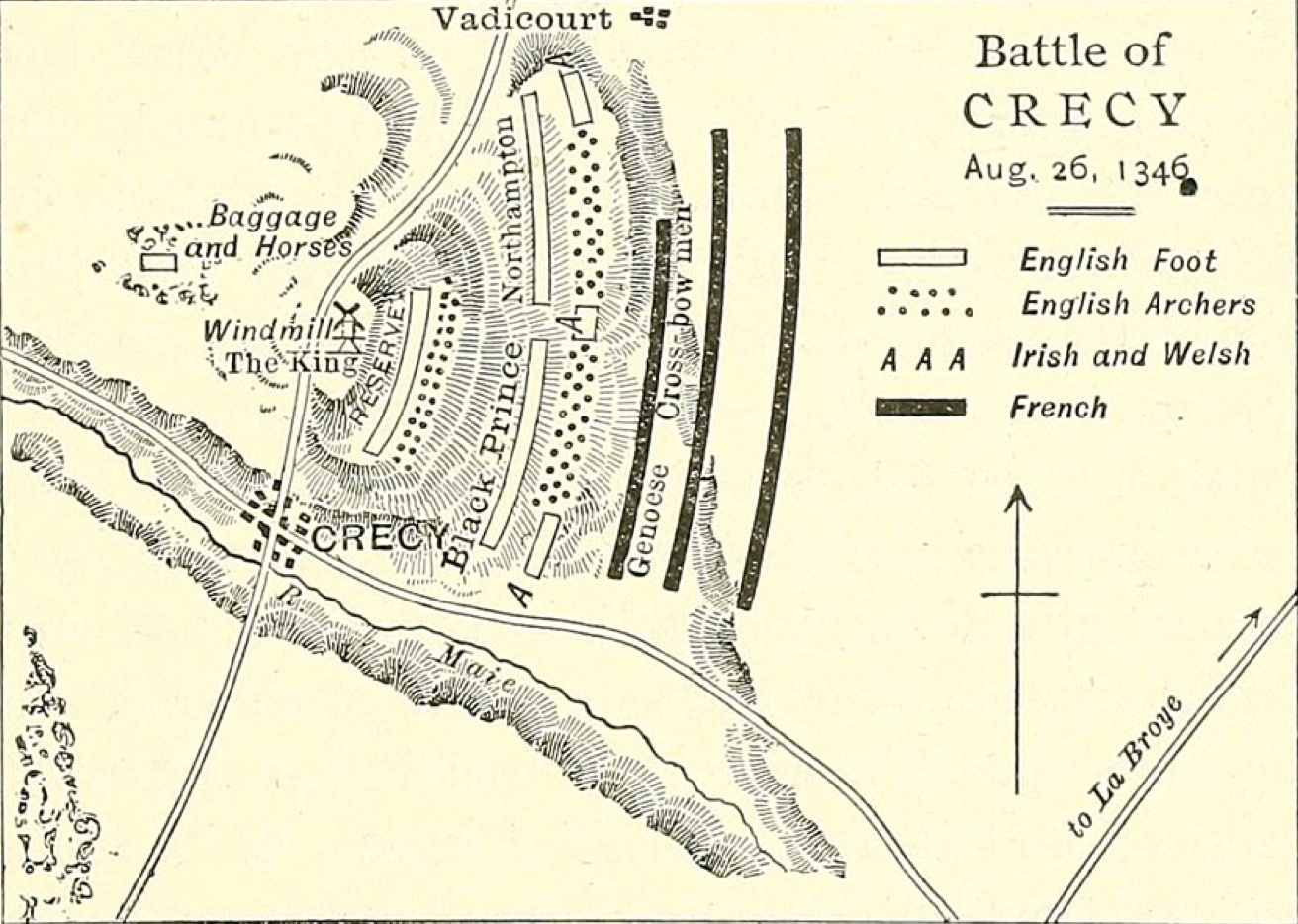 Crécy battleplan: Would  you fight at the front - or the back?