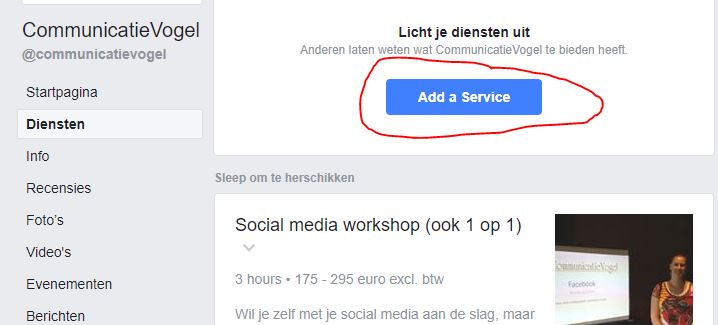 diensten Facebook