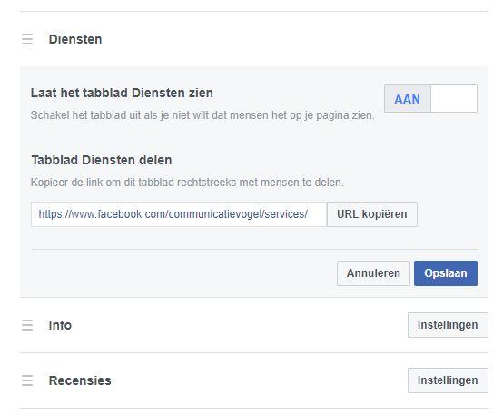 Facebook diensten