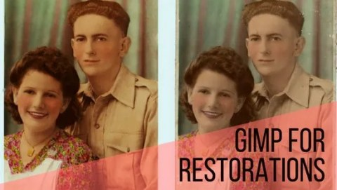 Gimp for Restoration work