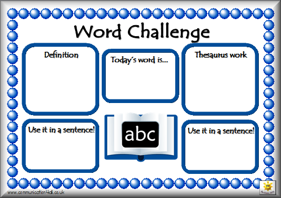word and thesaurus challenge sheets click the images to download