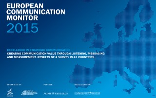 ECM European Communication Monitor Report 2015 Excellence in Strategic Communication Value Creation Listening Messaging Measurement content strategies (PESO)