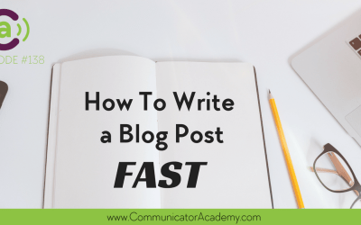 Podcast Eps #38: How to Write a Blog Post Fast