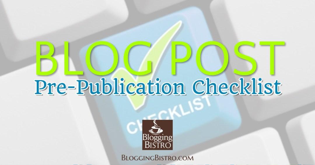 Blog Post Checklist