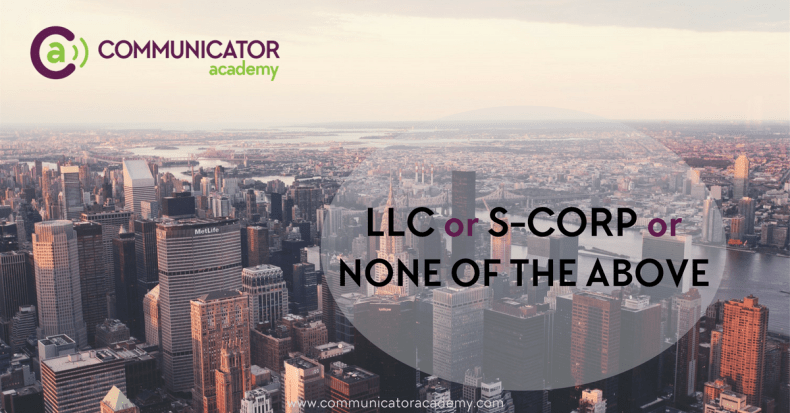 LLC or S-Corp