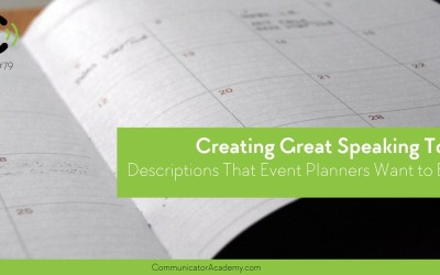 Eps. #79 Creating Great Speaking Topic Descriptions That Event Planners Want to Book