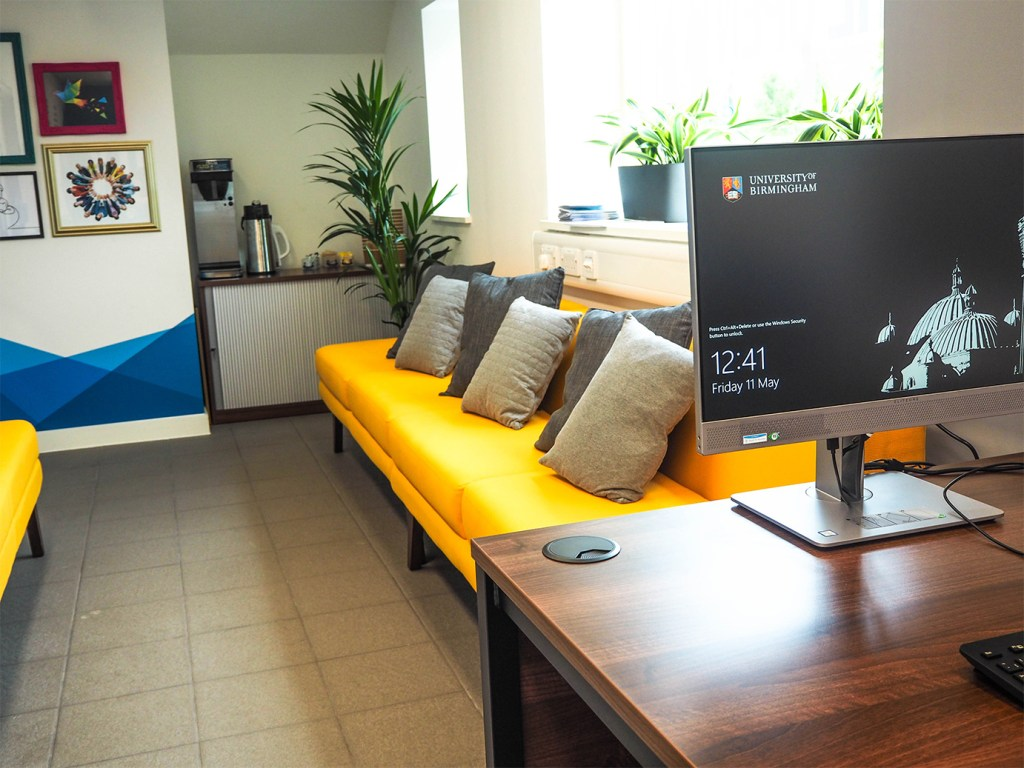 Community Living Hub sofas and hotdesk
