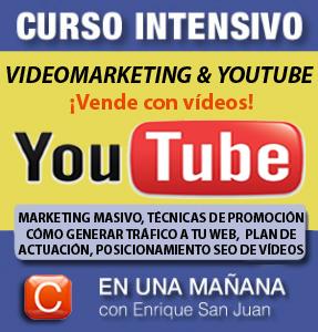 Curso-profesional Youtube y videomarketing-community internet social-media-community management enrique-san-juan-barcelona