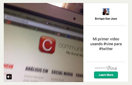 como tuitear videos con vine enrique san juan exoerto social media redes sociales cursos y servicios