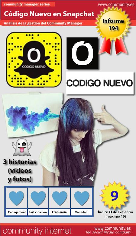 infografia codigo nuevo Snapchat analisis community internet the social media company