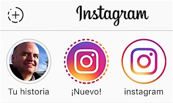 logo instagram historia