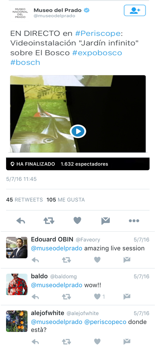twitter periscope museo del prado analisis community internet the social media company