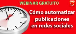 webinar GRATUITO como automatizar publicaciones en redes sociales community internet the social media company