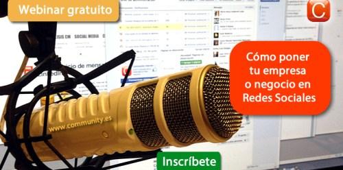 webinar como poner tu empresa o negocio en redes sociales enrique san juan community internet social media