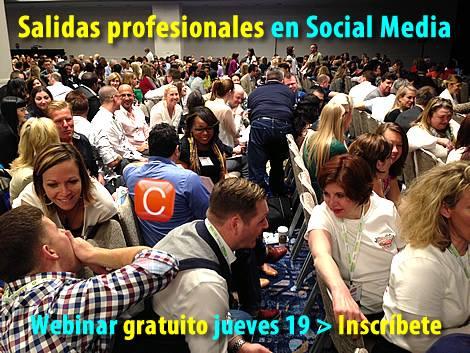 webinar gratuito salidas profesionales social media community internet the social media company