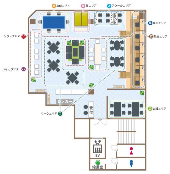 コワーキングスペース7Fの図面