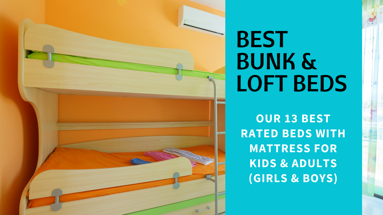 Best Bunk Loft Beds With Mattress For Kids Adults Girls Boys