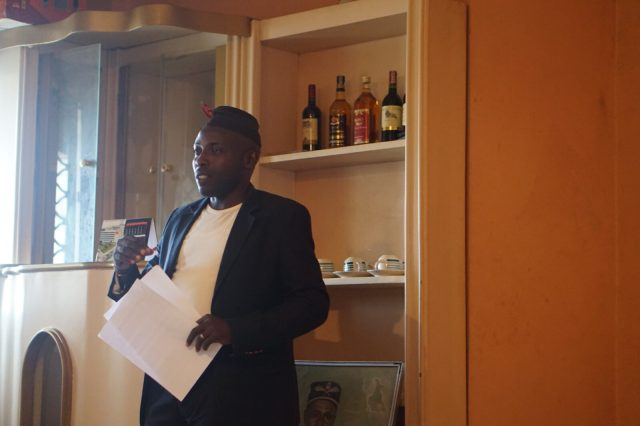 Sir Nyambot (Station Manager Lake Site Radio Kumba) kicking off the network meeting