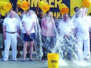Coral Gables Rotarians take ALS ice bucket challenge