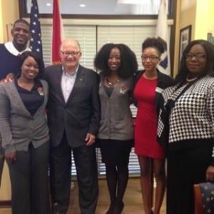 President Rosenberg and Black Student Union