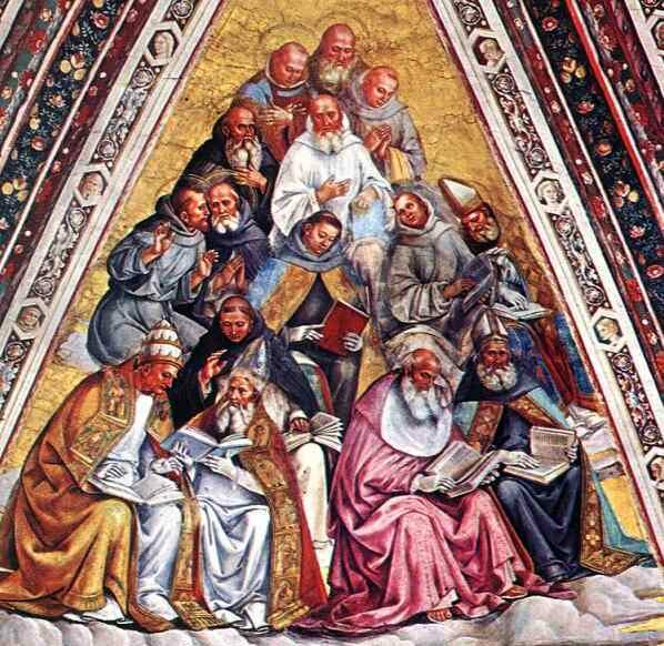 Doctors of the Church by Luca Signorelli - taken from www.communityofhopeinc.com - a great Catholic website