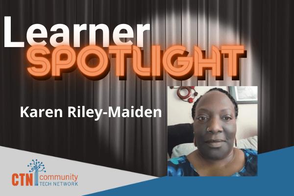 Senior Connect Learner Karen Riley-Maiden