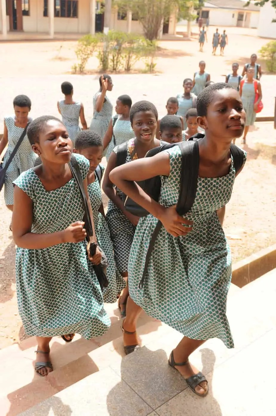 Image of school going girls Ghana