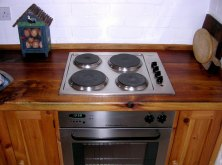 A reclaimed wooden kitchen surface