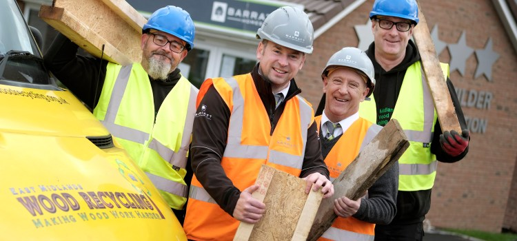 Working with Barratt Homes to recycle 100% of wood across all sites
