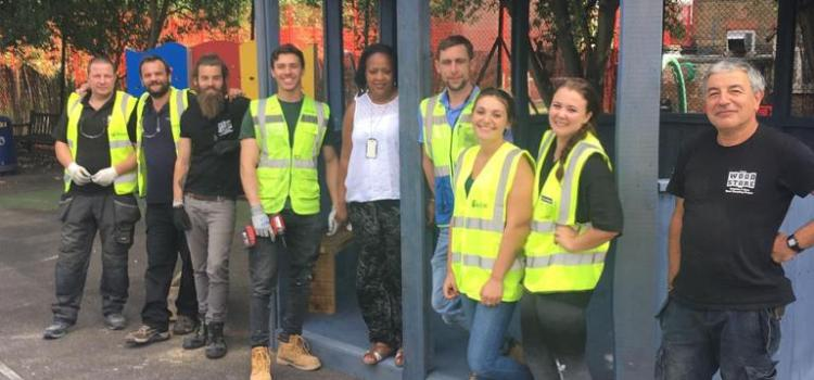 Community Wood Recyclers Build Outdoor Classroom