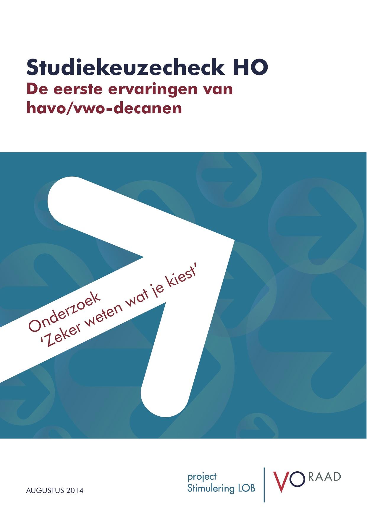 VO raad Voorblad Rapport Zeker Weten