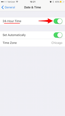 How to switch to a 24 hour clock on your iPhone