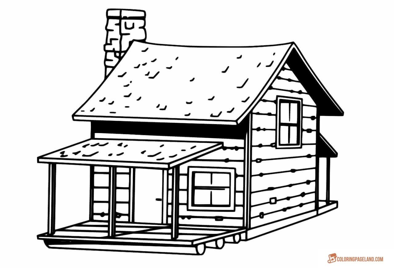 Casas Para Colorir E Pintar 18