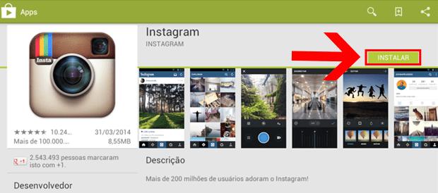 como criar conta instagram pelo pc