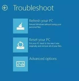 Refresh en Windows 8