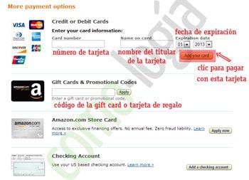 como pagar con una tarjeta en amazon comprar en amazon paso a paso