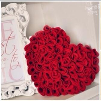cmo hacer corazn de rosas para decorar boda
