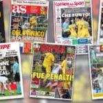 """""""¡Fue penalti!"""" vs. """"¡Qué robo!"""": la guerra en la prensa por el polémico fallo a favor del Real Madrid"""