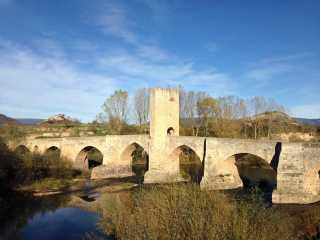 puente romano de frias paso rio ebro provincia burgos