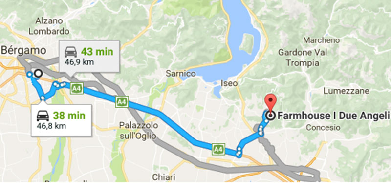 De Bergamo a Ome