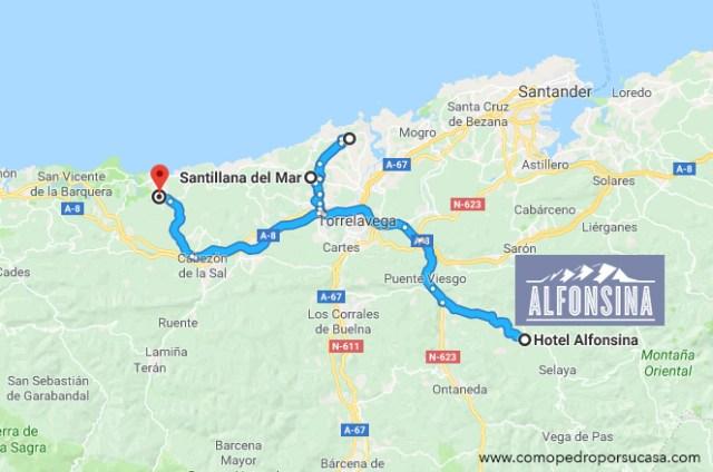Ruta en coche Cantabria Santillana del Mar Comillas