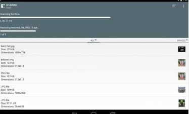 como recuperar archivos eliminados en android