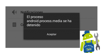 reparar error android procesos media se han detenido 2016 full