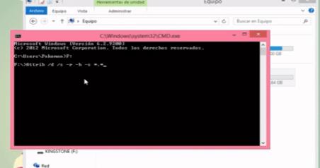 reparar recuperar archivos usb con virus